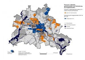 Mittlere Angebotsmieten in Berlin 2011