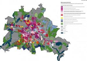 Bebauungsstrukturkarte – Vorherrschende Struktur der Wohnbebauung in den Planungsräume (LOR)
