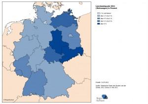 Leerstandsquote 2011 (Wohnungen) in Prozent